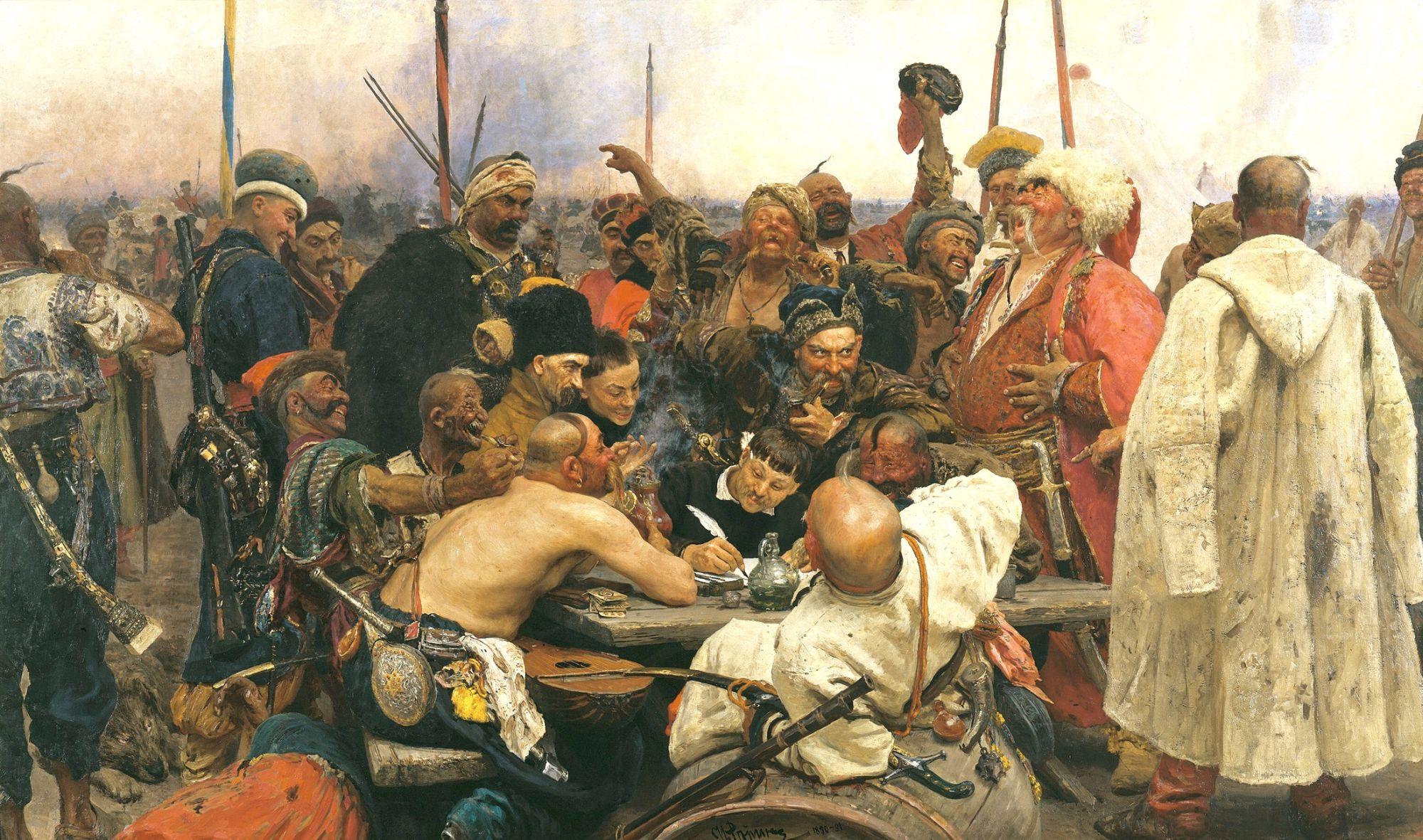 «Zaporozhtsy pishut pismo turetskomu sultanu». I. Repin
