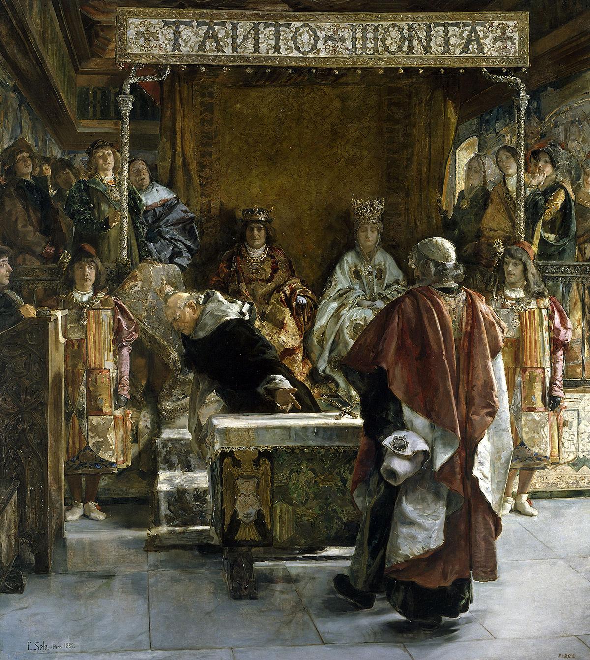 Альгамбрский эдикт— указ королевских величеств Фердинанда II Арагонского и Изабеллы I Кастильской, изданный в 1492 году, об изгнании со всех территорий их королевств тех евреев, которые до 31 июля этого года откажутся принять христианство.
