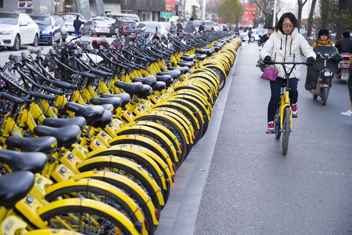 bicycle sharing companies failed in succession in China