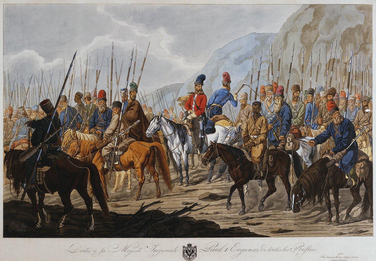 Yaitskiye kazaki v pokhode