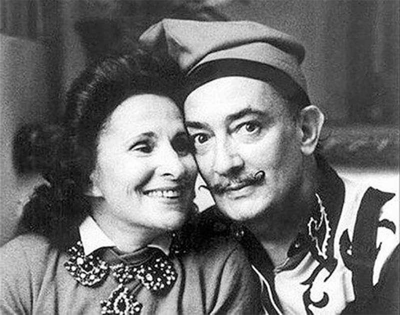 Елена Ивановна Дьяконова и Сальвадор Дали