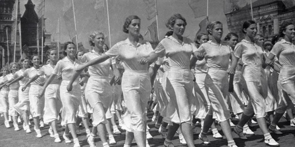 Парад физкультурников на Красной площади, 1936 год
