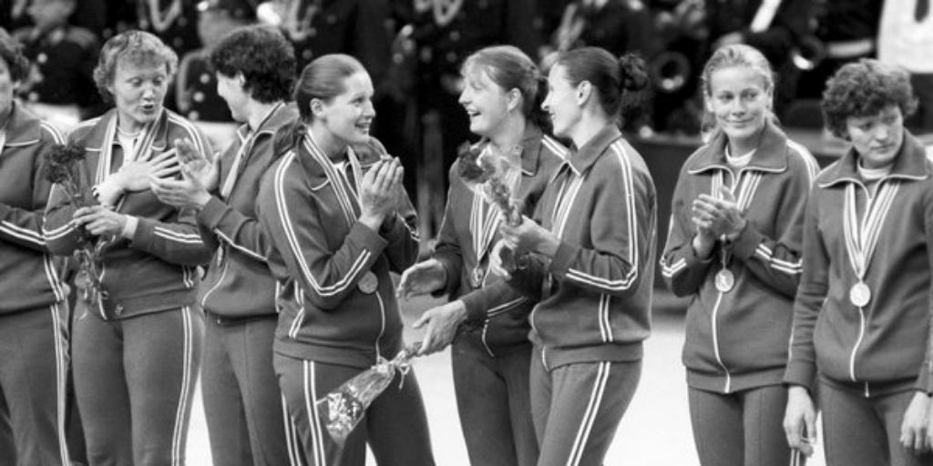 Чемпионки Олимпиады-80 — женская сборная СССР по гандболу, Москва, 24 июля