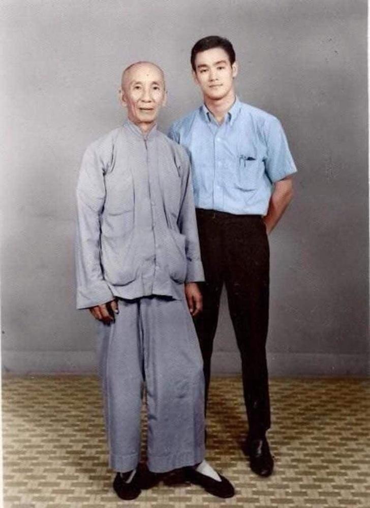 18-летний Брюс Ли и его учитель. 1958 год