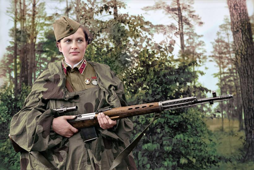 Людмила Павличенко — самый успешный советский снайпер времен Второй мировой войны. На ее счету 309 смертельных попаданий в противника
