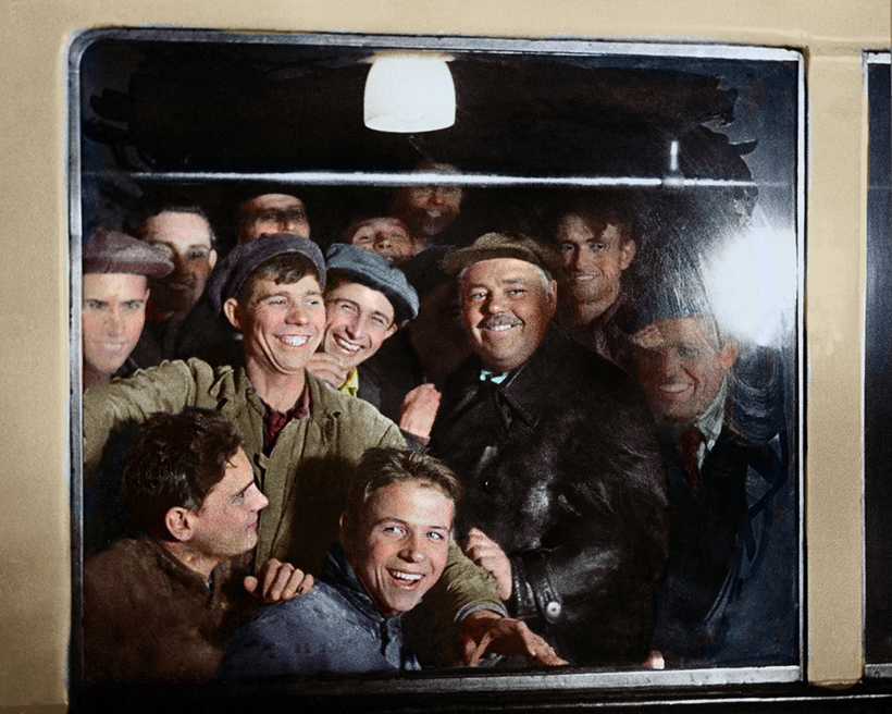 Первые пассажиры московского метрополитена, 1935 год