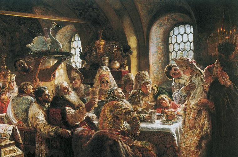 К. Маковский. Свадебный пир. 1883 год