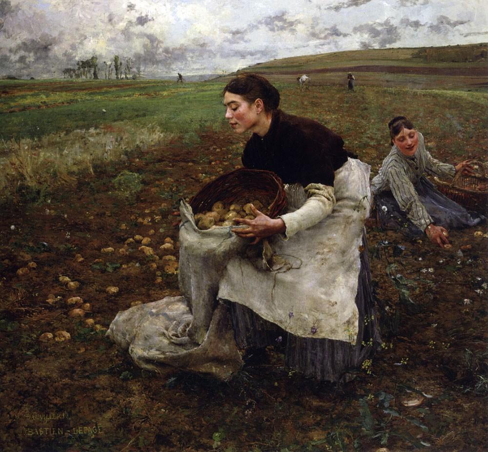 Жюль Бастьен-Лепаж «Сбор Картофеля»