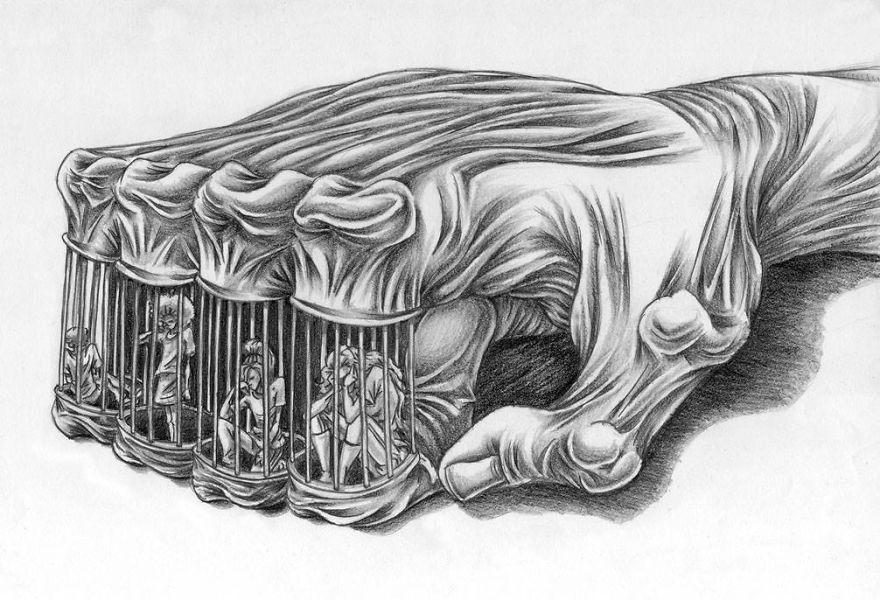Пороки общества в сатирических картинах Аль Маргена