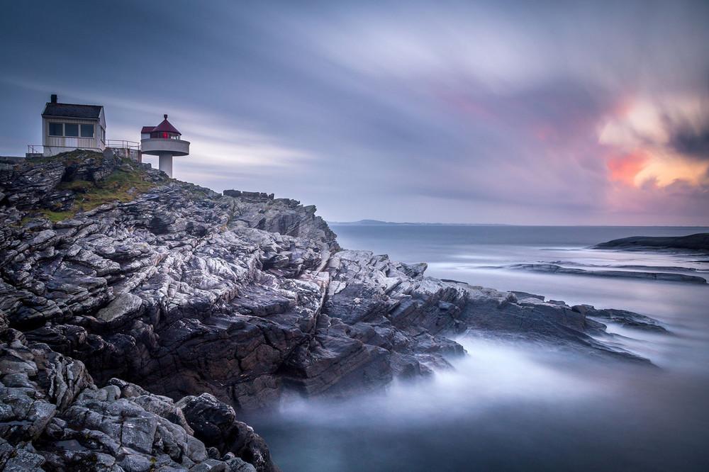 Fjøløy Lighthouse, острова Рогаланд, Норвегия