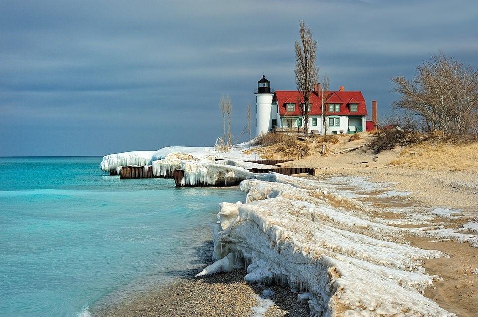 Point Betsie Light, штат Мичиган, США
