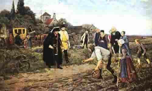 Фридрих II проверяет урожай картофеля