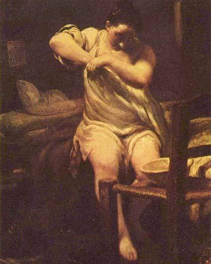 Джузеппе Мария Креспи «Женщина, ищущая блох»