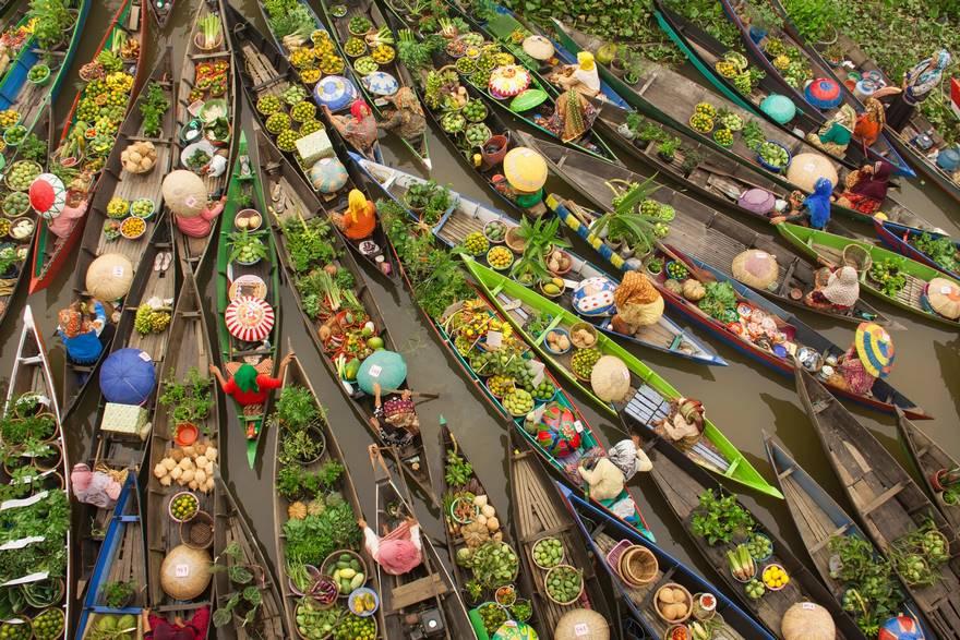 Плавучий рынок, Малайзия