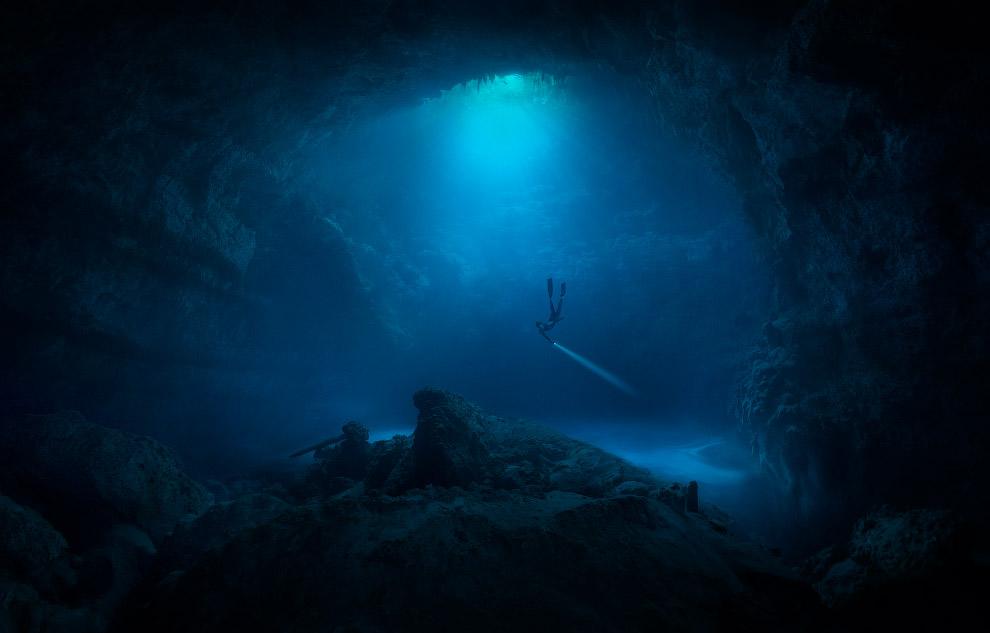 Подводная пещера, Тулум, Мексика.