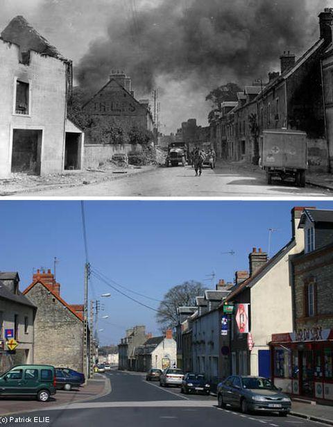 Эли, который посвятил свою жизнь хроникам того времени и последствиям войны на его родине во Франции, неустанно работал, чтобы найти точные местоположения драматических фотографий из 1944, а затем сделал свои собственные фотографии современных улиц