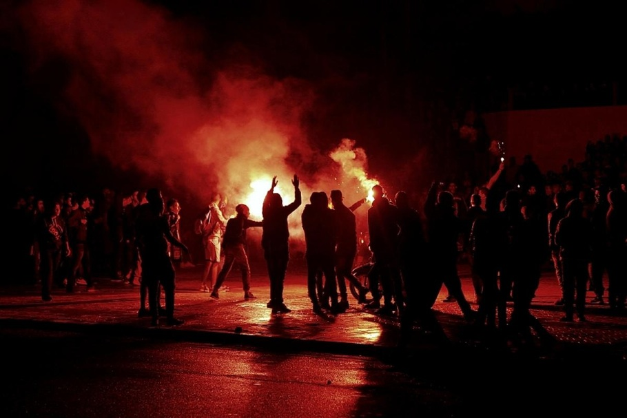 Протесты в Марокко. Третье место в категории «Репортаж: Конфликт».