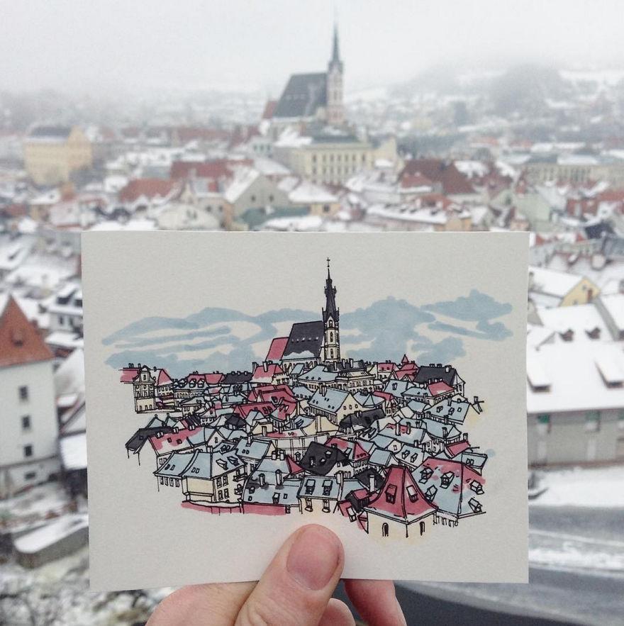 Путешествующий художник: серия картин складывается в маршрут