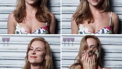 Влияние бокала вина: эксперимент в фото