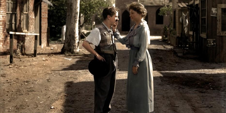 Хеллен Келлер и Чарли Чаплин. 1918 год