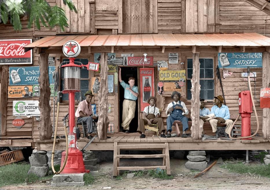 Деревенский магазин в Северной Каролине (США). 1939 год