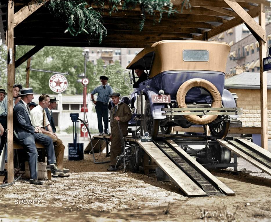 АЗС в Вашингтоне. 1924 год
