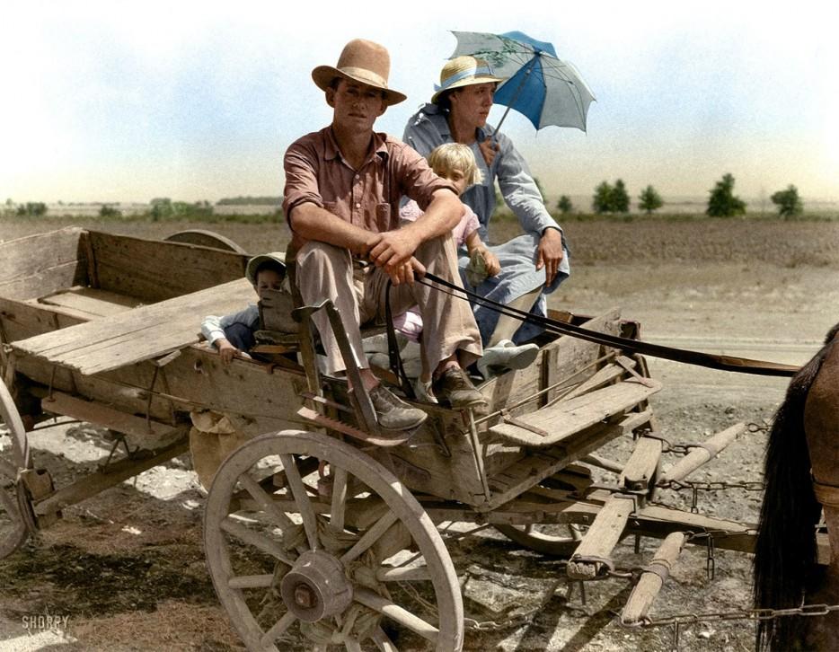 """Фермер из Оклахомы (США) во время """"Великой пыльной бури"""". 1939 год"""
