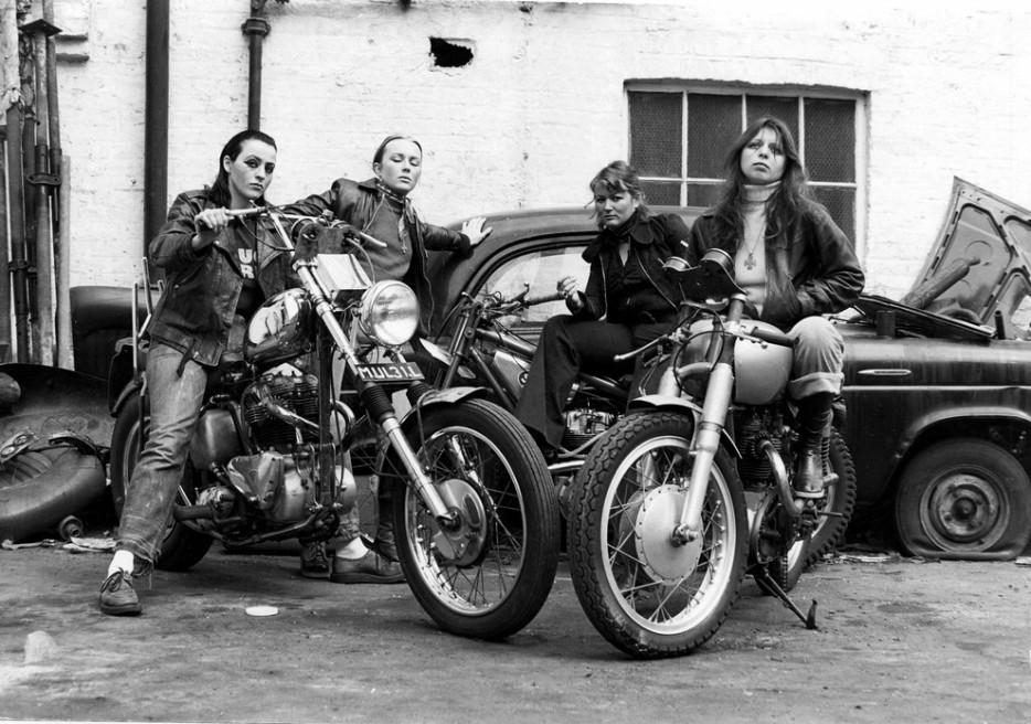 Девушки знаменитой байкерской банды «Ангелы ада». 1973 год