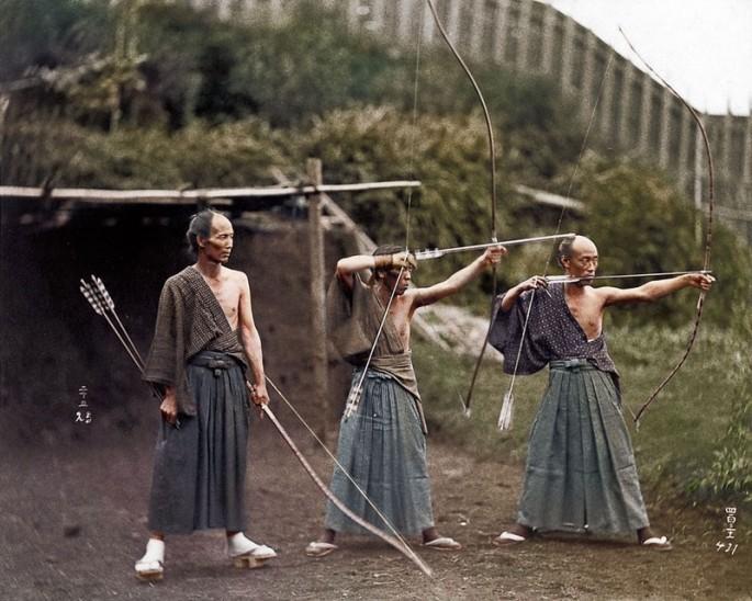 Обучение самураев. 1860 год