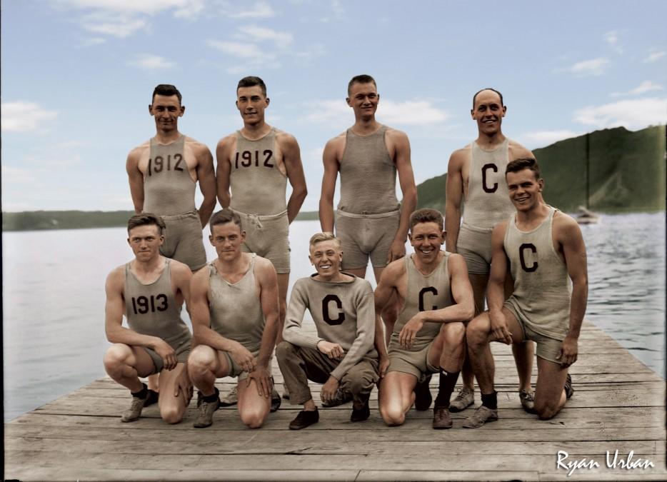 Команда гребцов. 1902 год