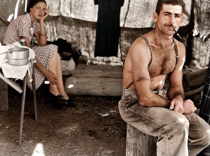 Безработный лесоруб с женой. 1939 год
