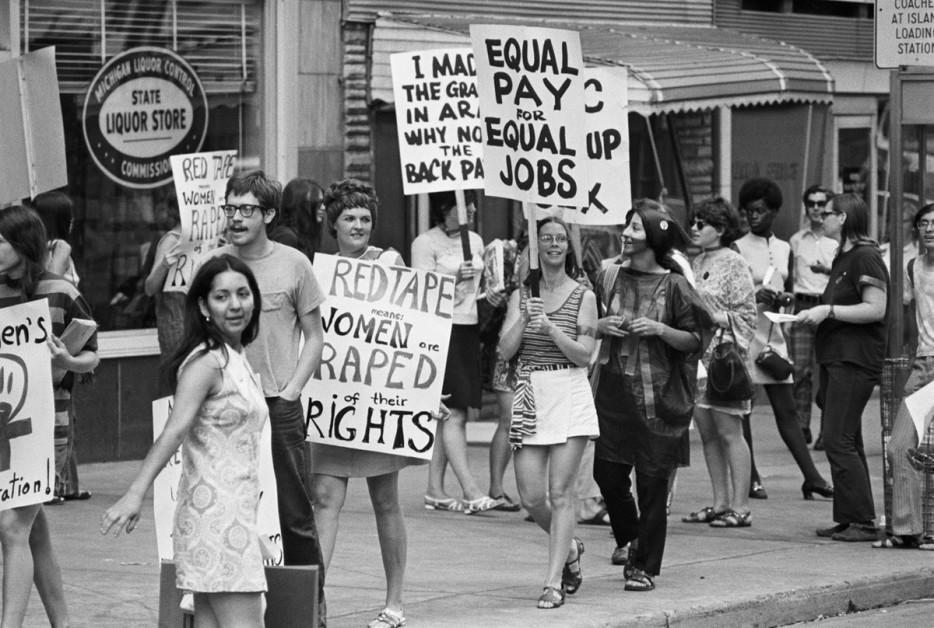 Движение за права женщин в Детройте, Мичиган. 1970 год