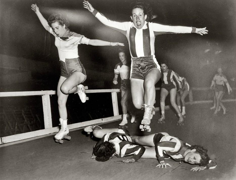 Женская лига роллер-дерби в Нью-Йорке. 10 марта 1950 года