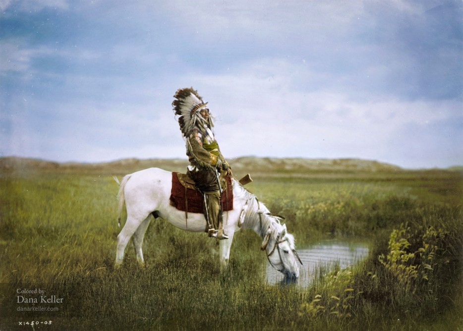 Индеец на коне. 1905 год