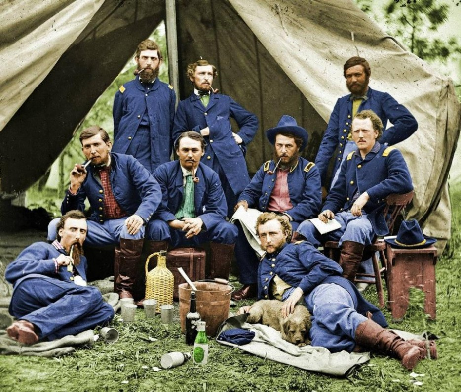 Солдаты на привале. 1863 год