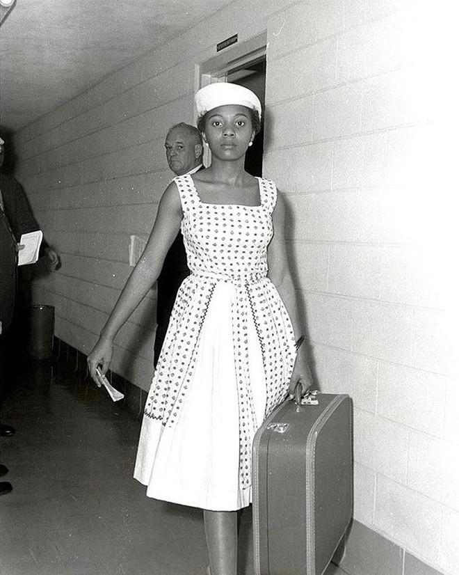 Активистка Энни Лампкинс в городской тюрьме Литтл-Рок. 1961 год