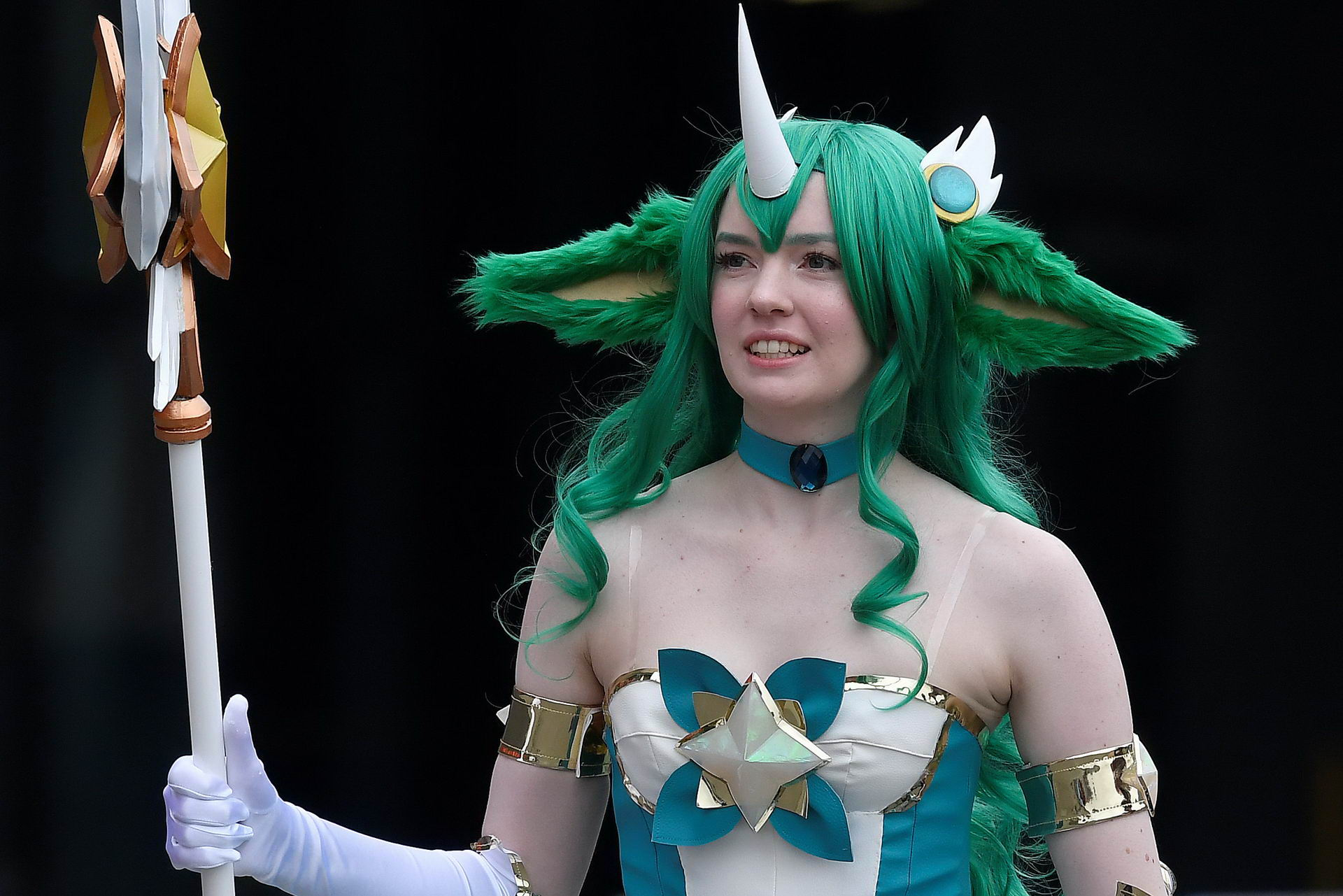 Attendees arrive dressed as their favourite comic characters for the MCM London Comic Con, a convention to celebrate the culture of comic books and related art forms, in London, Britain