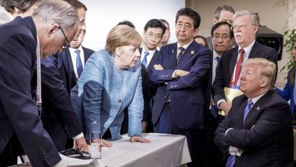 Атмосфера на саммите G7: как ракурс фотографии меняет смысл происходящего