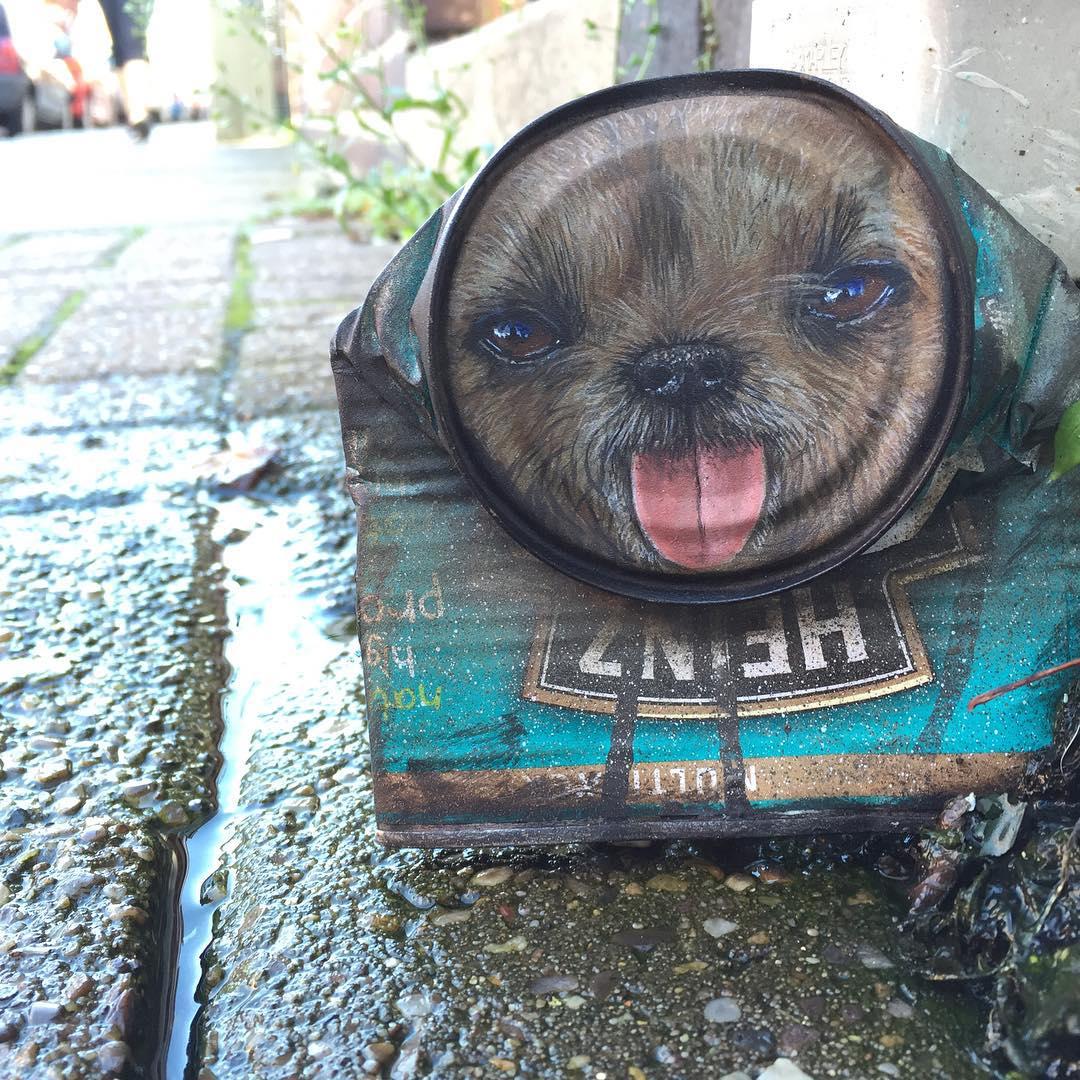 Животные и люди на жестяных банках: необычное творчество «My Dog Sighs»