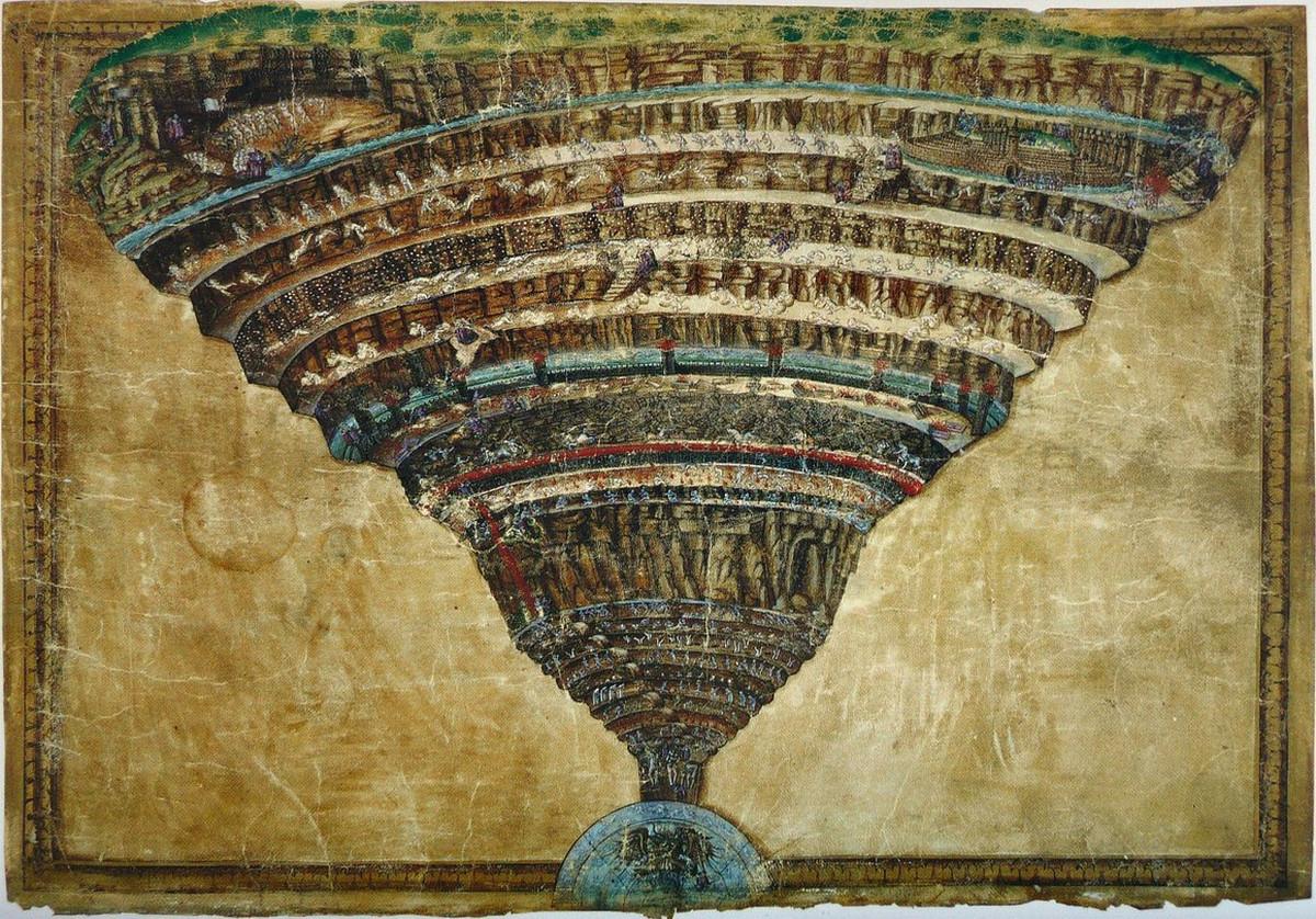 «Ад» Данте: карты подземного мира от XVI века до современности
