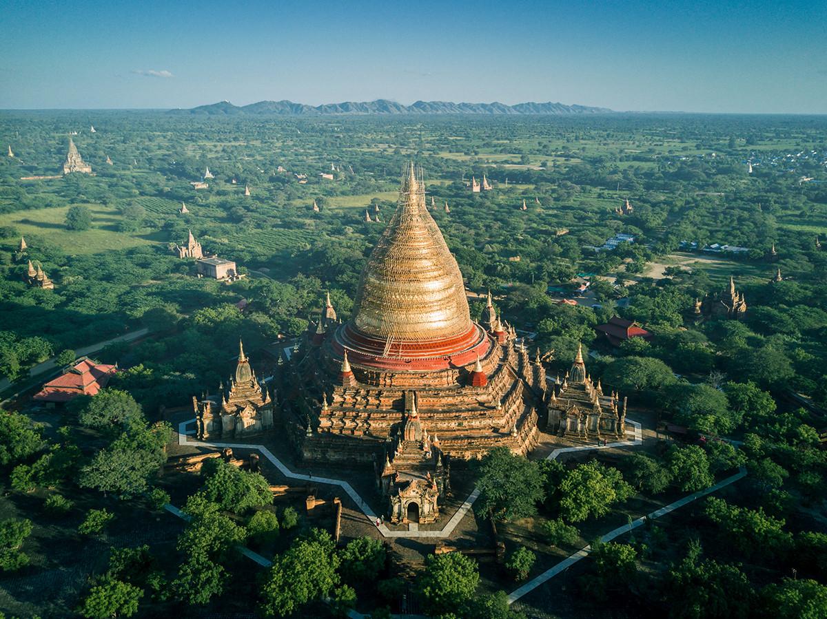 Великолепие храмов Мьянмы с высоты птичьего полета