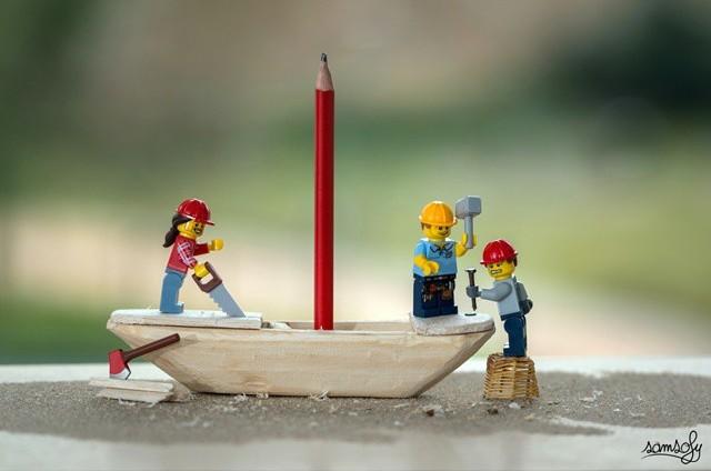 Персонажи LEGO – герои работ французского фотографа