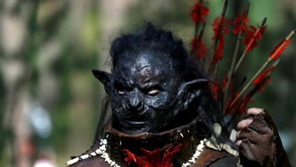 Битва из книг Толкиена: армии гномов, орков и эльфов в лесах Чехии