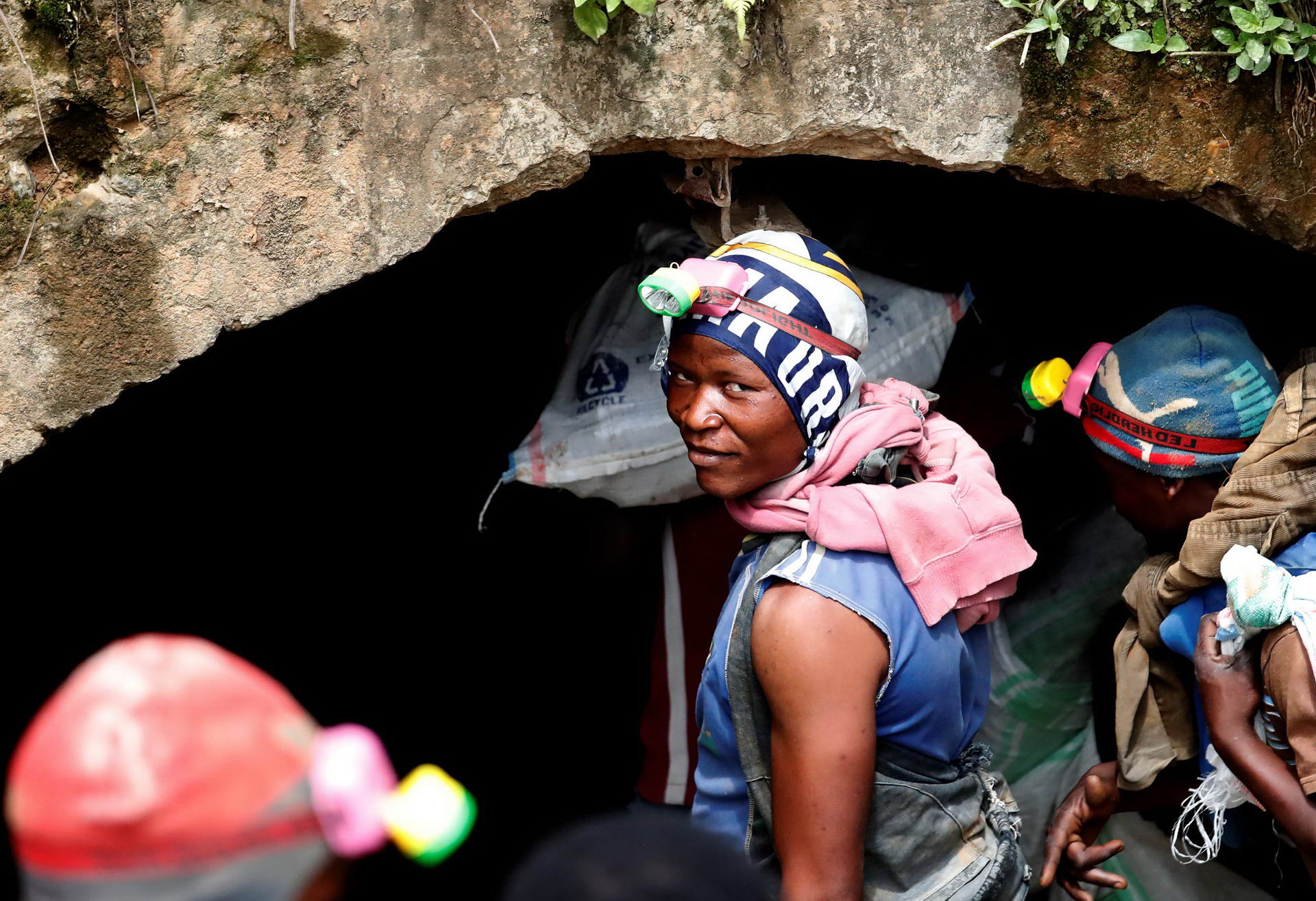 Miners work at Makala gold mine camp near the town of Mongbwalu in Ituri province