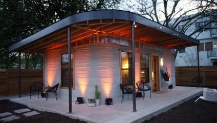 Дом, построенный за один день с помощью 3D-принтера