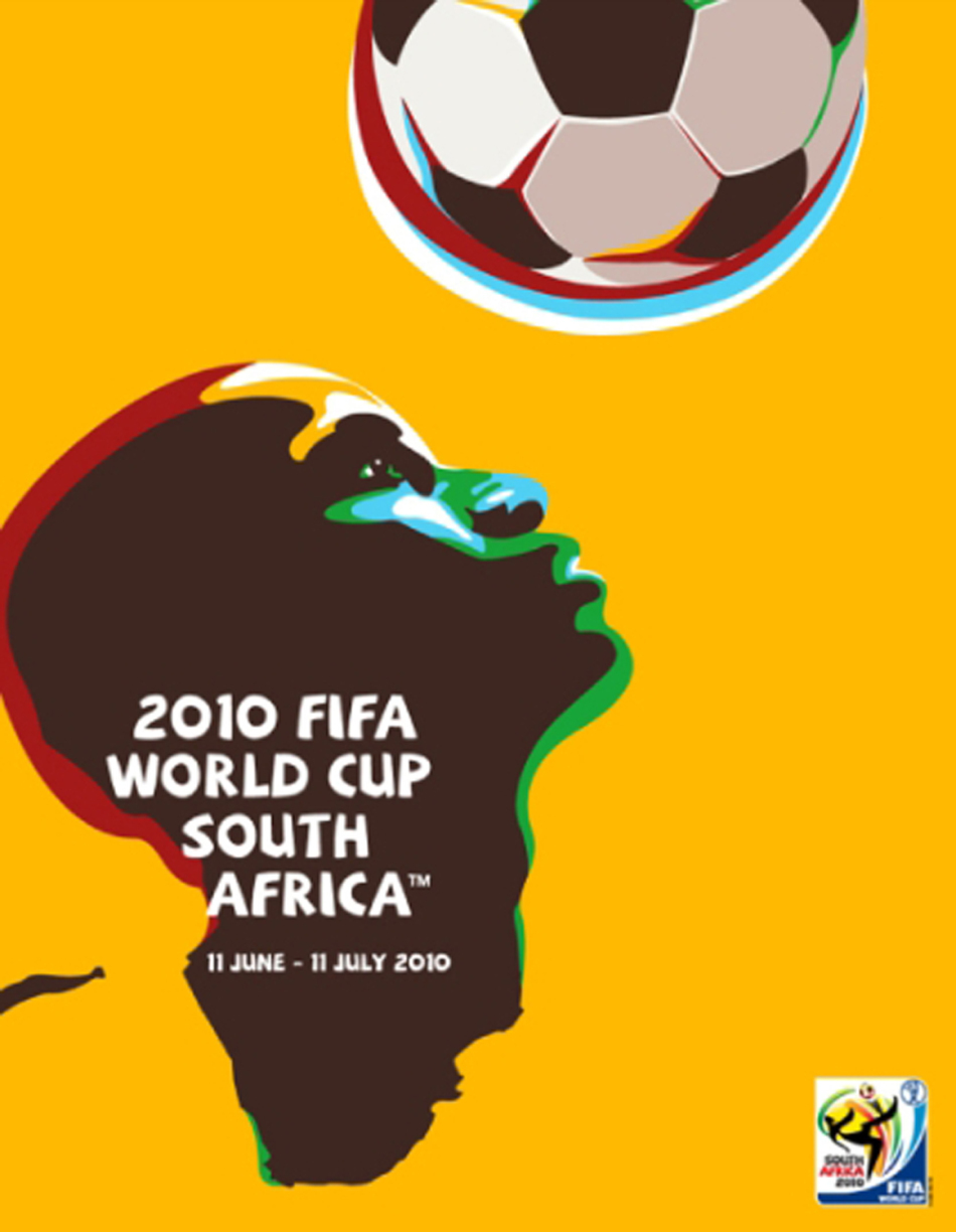 Handout picture of the official poster of the 2010 FIFA World Cup to be held in South Africa from June 11 to July 11, 2010.