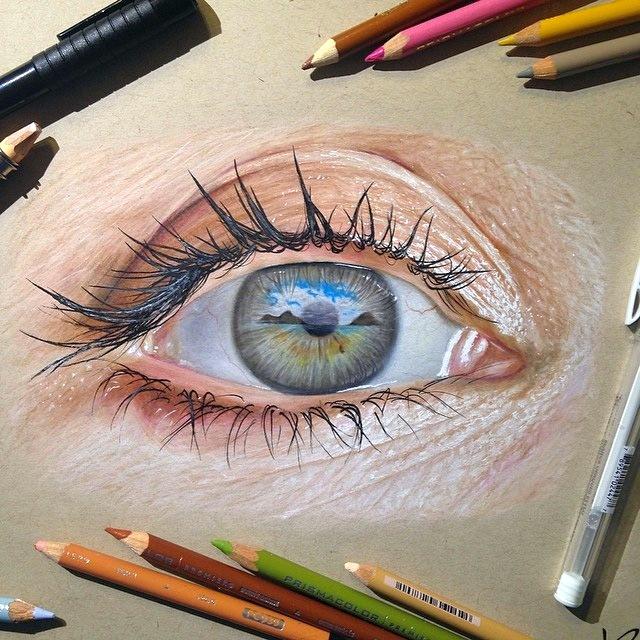 Картины глаз американского художника: совсем как настоящие