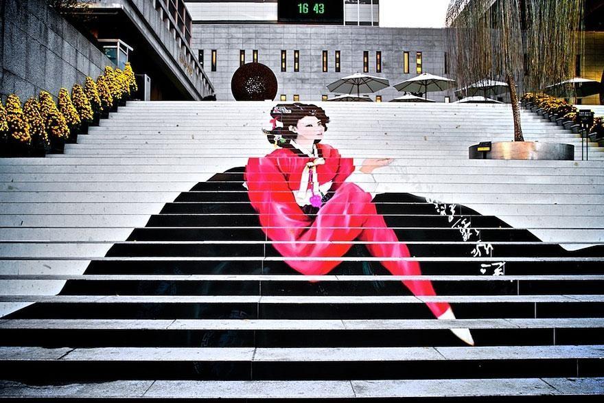 Немного красок и лестница становится городской достопримечательностью: фото уличной красоты