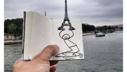 Необычный житель Парижа: ожившая иллюстрация
