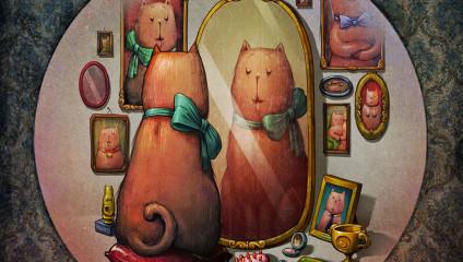 7 смертных грехов и милая кошка: необычный арт-проект